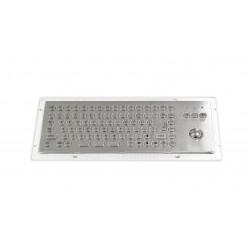 Tastiera industriale compatta in acciaio inossidabile IP 65, 86 tasti con trackball