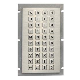 Tastierino numerico con lettere industriale in acciaio, IP65