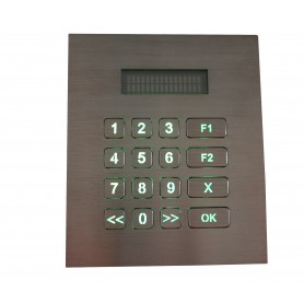 Industrial numeric keypad stainless steel, 16 keys, IP67