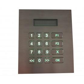 Tastierino numerico industriale in acciaio, 16 tasti, IP67