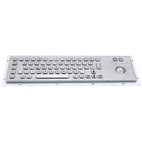Stainless steel keyboard, vandal proof, 66 keys,  IP65 with trackball