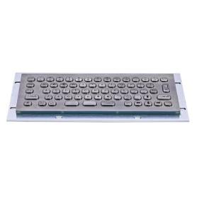 Mini compact stainless steel keyboard, vandal proof, 66 keys, IP65