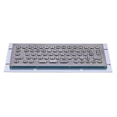 Mini compact stainless steel keyboard, vandal proof, 66 keys, IP65