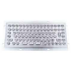 Mini compact stainless steel keyboard, vandal proof, 86 keys,  IP65