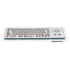 Tastiera industriale compatta in acciaio inossidabile IP 65, 66 tasti con trackball