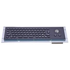 Tastiera industriale compatta in acciaio inossidabile IP 65, 66 tasti con trackball (versione nera)