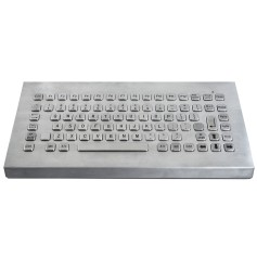 Stainless steel keyboard, vandal proof, 86 keys, IP65
