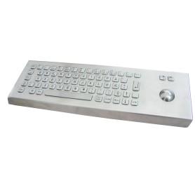Tastiera industriale in acciaio inossidabile IP 65, 66 tasti con trackball