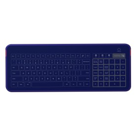 Glass keyboard IP67, 104 keys, USB with touchpad and numeric pad