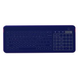 Tastiera in vetro IP67, 104 tasti, USB, touchpad e tastierino numerico