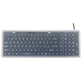Tastiera silicone IP68, 100 tasti, USB retroilluminata con membrana