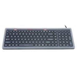 Silicon keyboard, IP68, 100 keys, USB with backlight