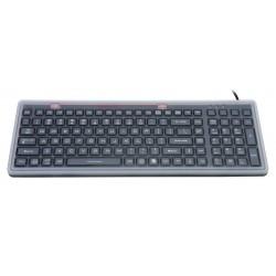 Tastiera silicone IP68, 100 tasti, USB retroilluminata