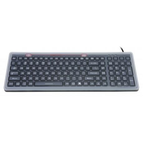 Silicon keyboard, IP68, 100 keys, USB with backlight