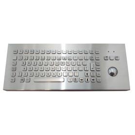 Stainless steel keyboard, vandal proof, 83 keys, IP65 with trackball