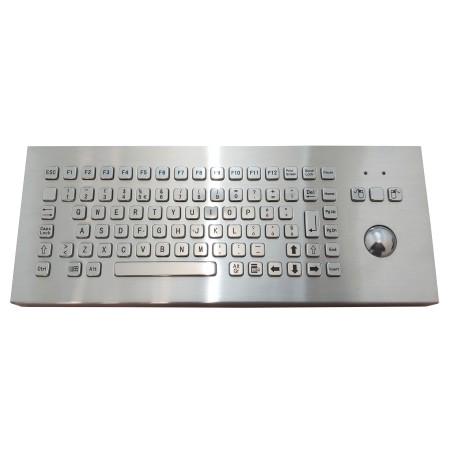 Tastiera industriale in acciaio inossidabile IP 65, 83 tasti con trackball