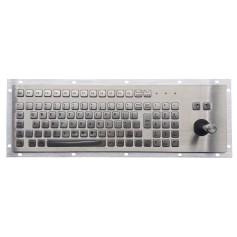Tastiera industriale in acciaio inossidabile IP 65, 96 tasti con tastierino numerico e joystick