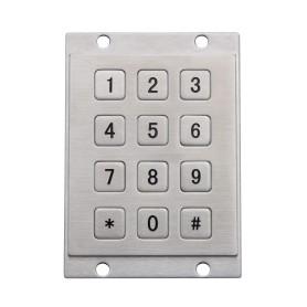 Tastierino numerico industriale in acciaio, 12 tasti, IP65