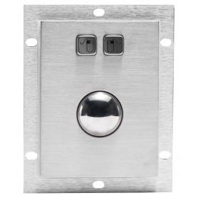 Stainless steel trackball, vandal proof and IP65