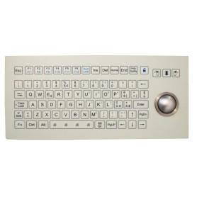 Tastiera industriale a membrana IP 67, 81 tasti con trackball IP68