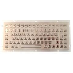 Stainless steel keyboard, vandal proof, 86 keys, IP65