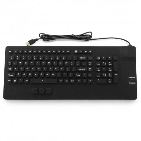 Tastiera silicone IP68, 102 tasti, USB