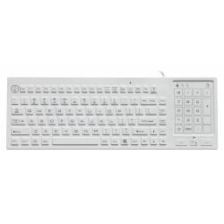 Tastiera silicone IP68, 88 tasti, USB, retroilluminata con trackpad
