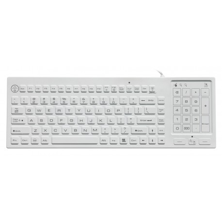 Silicon keyboard, IP68, 88 keys, USB with trackpad and backlight