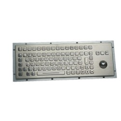 Stainless steel keyboard, vandal proof, 83 keys,  IP65 with trackball and backlight