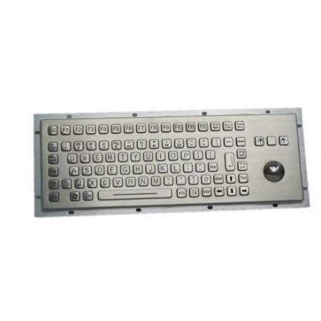 Tastiera industriale in acciaio inossidabile IP 65, 83 tasti con trackball retroilluminata