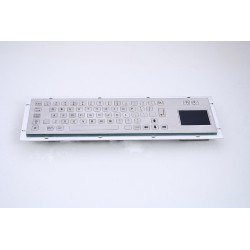 Stainless steel keyboard, vandal proof, 66 keys FLAT,  IP65 with touchpad