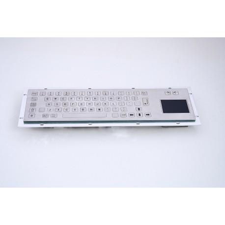 Tastiera industriale in acciaio inossidabile IP 65, 66 tasti FLAT con touchpad