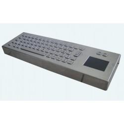 Tastiera industriale in acciaio inossidabile IP 65, 66 tasti con touchpad