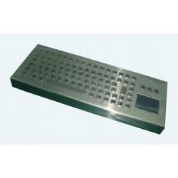 Tastiera industriale in acciaio inossidabile IP 65, 83 tasti con touchpad
