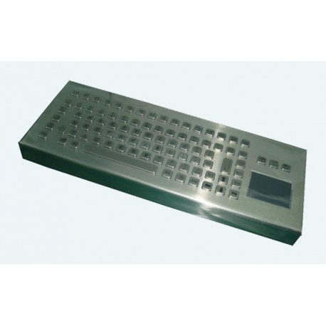 Stainless steel keyboard, vandal proof, 83 keys, IP65 with touchpad