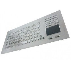 Stainless steel keyboard, vandal proof, 104 keys, IP65 with touchpad