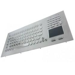 Tastiera industriale in acciaio inossidabile IP 65, 104 tasti con touchpad